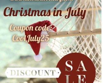 Christmas in-JULY SALE 25% Off Everything! Coupon Code CoolJuly25 Additional Discount-Promotion-Discount-Sale-Coupon
