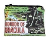 Horror of Dracula Classic Movie Zipper Pouch Coin Purse - 20% off Shop Closing Sale