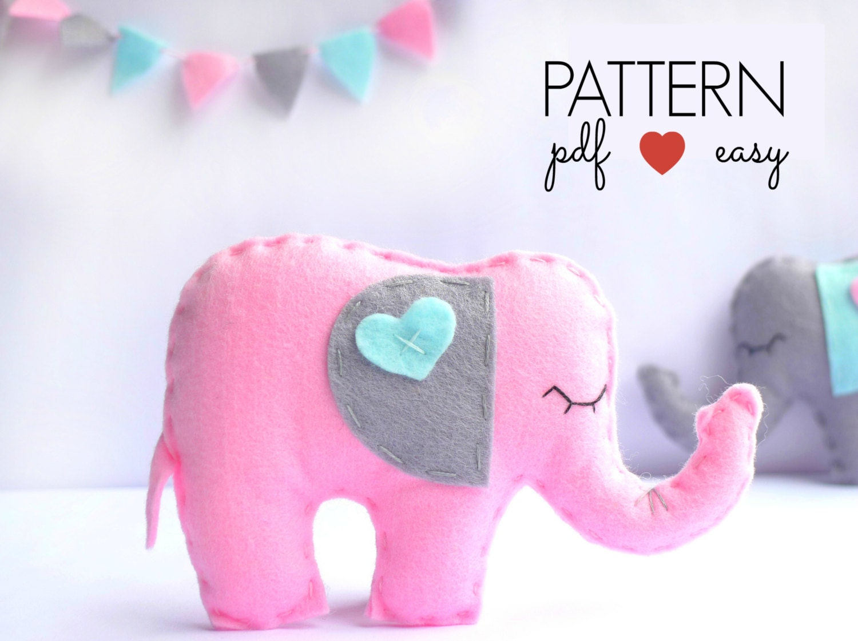 Felt elephant pattern elephant ornament pattern stuffed zoom jeuxipadfo Choice Image