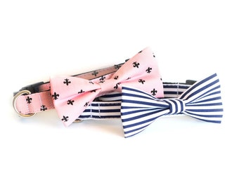 LASTONE! 2 colors to choose from, Dog Bow tie Collar, cat bow tie collar, pet collar, dog collar, bow tie, bowtie for dog