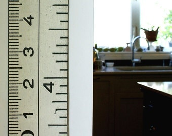 The Dual Measures Growth Chart: inches and cm in one giant ruler canvas growth chart