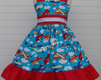 Airplanes Jumper Dress
