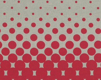 Red Gumballs from the First of infinity collection by Lecien of Japan in cotton and linen mix
