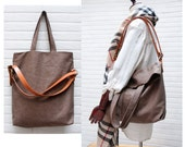 3 way tote bag with Removeable leather  strap