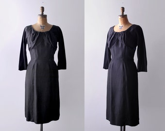 60 wiggle dress. m. 1960's black dress. pinup. silk. 60's sheath dress. saks fifth avenue.