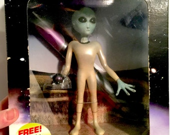 Vintage Shadowbox Grey Alien