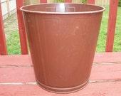 Vintage Awesome Lawson Metal Trash Can Waste Basket Industrial