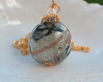 Large Venetian Murano Glass Necklace