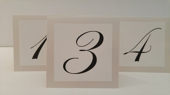 Wedding Table Numbers Tent Shimmery Soft White and Shimmery Soft Cream Tented Backing Perfect for a Soft White or Champagne Colored Wedding