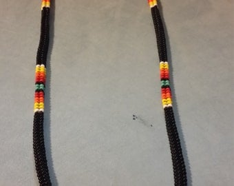 "Black Native American like 24"" necklace"