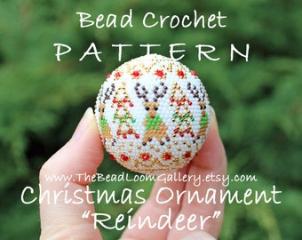 Christmas Ornament Reindeer - Crochet PDF File TUTORIAL - Christmas Ornament Vol.12 with Swarovski Crystals