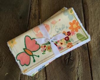 Burp Cloths | Set of two, Chenille Burp Cloths, gift set, sunshine
