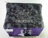 Party...Crochet - The Nightmare Before Christmas Zippered Project Bag