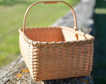 Medium Shaker Carrier Basket Nina Webb Basket Handwoven Rattan