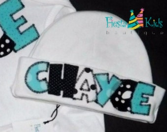 Newborn boy, coming home, hospital baby hat, infants, Tiffany blue, personalized hats, baby beanie with name