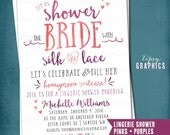 Lingerie Shower. Silk & Lace. Bridal Wedding Shower Invite by Tipsy Graphics