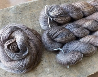 Topaz and Quartz - Hand Dyed Silk Cashmere Lace Yarn
