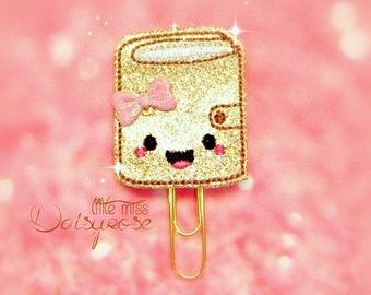 GOLD PLANNER Glitter Planner Clip Paperclip