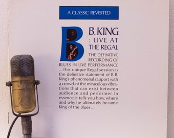 "Vinyl Record Album BB King 1960s Blues Electric Soul B.B. King Guitar Lp ""Live at the Regal""(1987 Mca re-issue w/""Sweet Little Angel"")"