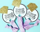 Single Set 1 card Hair Ties Bachelorette Party Favors KIT Accessories Gift Glitter Diamond **READ Listing Description before Purchasing**