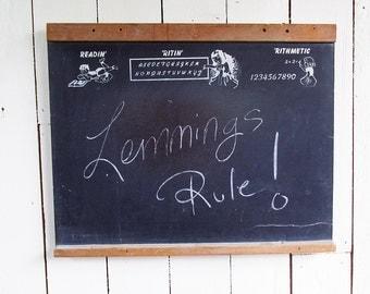 "Mid Century Child's Blackboard - Chalkboard - White Board ""Kitschy Fun Graphics"""