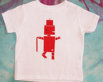 Toddler and Kid's T-Shirt - DinoRobot Dancer - 2T, 3T, 4T, 5T, 6T