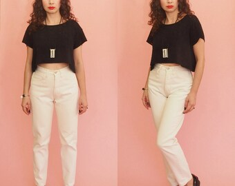90s Jeans // 80s Jeans // High Waist Jeans // Mom Jeans // Guess Jeans // Tapered Jeans // Skinny Jeans // Vintage