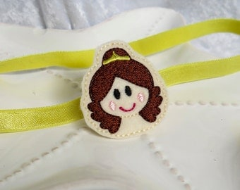 Belle Inspired Princess Headband or Hair Bow- Perfect for Disney Trips, Preschoolers, Princess Birthday Parties