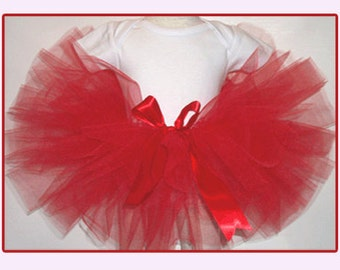 Red Christmas Tutu, Christmas Tutu, Red Tutu, Red Toddler Tutu , Red Girls Tutu, Red Childs Tutu, Tutu for Christmas, Red Baby Tutu