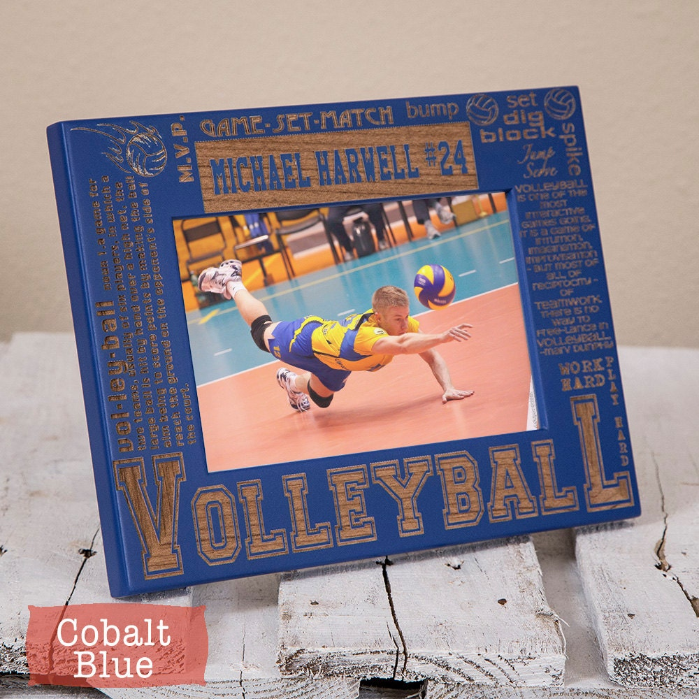 Personalized Volleyball Picture Frame-Volleyball Gift-Sports