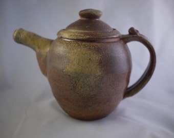 Toasty Brown Ash-Speckled Wood-Fired Teapot (MCP15-2)