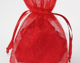 Wedding Favors Table Decorations RED 3x4 Organza Bags 100