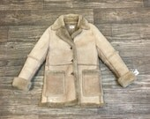 80s AMBASSADOR Sheep Skin Suede Penny Lane Leather Jacket