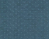 Marine Blue Dobby Dot Double Gauze Chambray, Double Gauze Chambray Collection by Robert Kaufman, 1 Yard