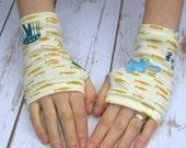 Womens Fingerless Gloves - Organic arm warmers- Fingerless mitts-Short gloves-Texting Gloves-Driving Gloves-Hipster-Handmade