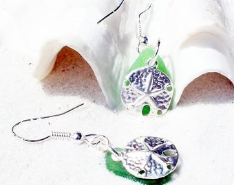 Sea Glass Earrings - Sea Glass Jewelry  - Starfish Jewelry - Lake Erie  Beach Glass