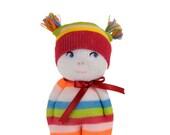 Little Sock Doll in Bright stripes