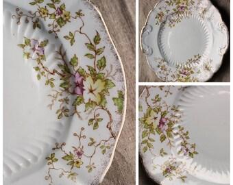 Beautiful vintage floral cake plate