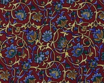 William Morris Design Tie Metropolitan Museum of Art necktie vintage burgundy blue