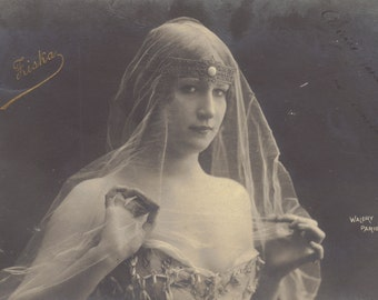 Mlle. Fiska, Belle Epoque Stage Performer 2, by Walery of Paris