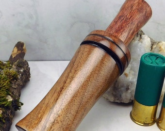 Double reed duck call with a English Walnut barrel and Stopper