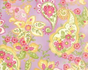 Colette Paisley Floral Violet Purple  Moda Quilt Fabric by the 1/2 yard #50-14