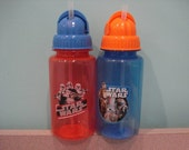 Kids Star Wars PBA FREE water bottles with Pop up Straw personalized for free great for party favors