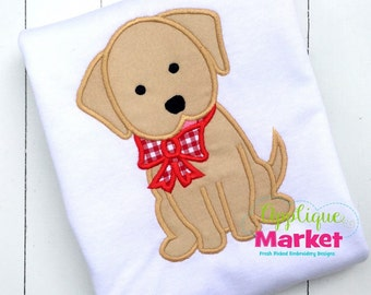 Puppy Dog Applique Shirt - Custom Machine Applique