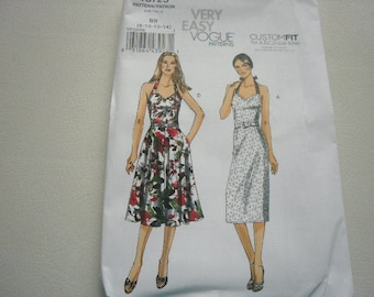 Pattern Ladies Dress 2 Styles Sizes 8 to 14 Vogue 8725