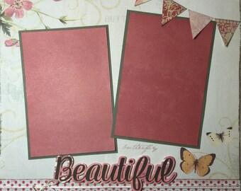 Premade Girl Scrapbook Page, Sisters Scrapbook Page, Best Friends Scrapbook Page, Grandmother Scrapbook Page, Mother Scrapbook Page
