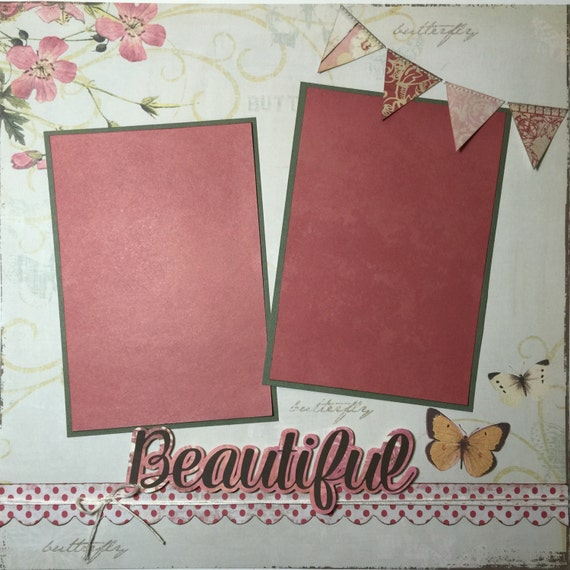 Premade Girl Scrapbook Page Sisters Scrapbook Page Best