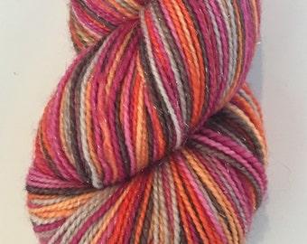 The Firebird, 6 Color Stripey... Canon Hand Dyes Oscar Sparkle Self Striping Sock Yarn