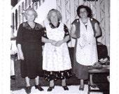 Vintage Photo - Ladies in Aprons - Vintage Photograph, Ephemera, Snapshots, Vernacular (C)
