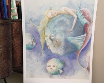 Sea life art print